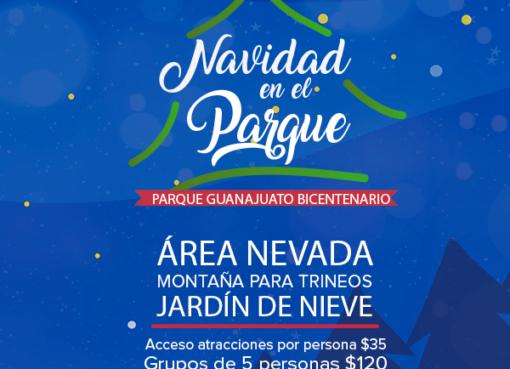 Llega la navidad a Parque Guanajuato Bicentenario