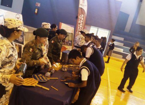 Guardia Nacional visitó alumnos de secundaria en Apaseo el Alto