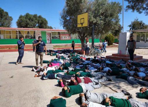 Implementan capacitación ¿Que Hacer en caso de una Balacera? en 15 escuelas de Apaseo el Grande