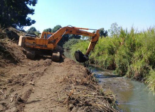 Realiza PC acciones de limpieza de canales en Apaseo el Alto