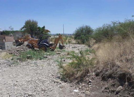 Comienzan trabajos de limpieza previos a la temporada de lluvias en Cortazar