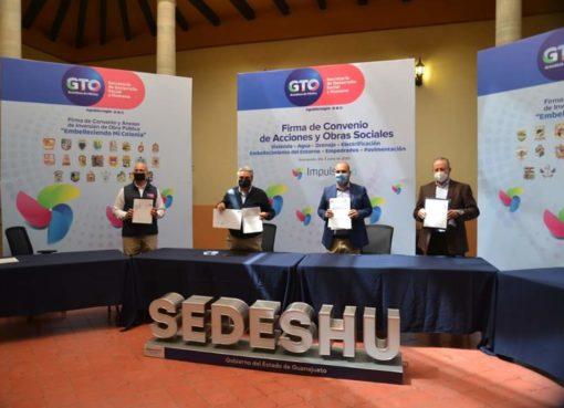 Firman municipios convenio con SEDESHU