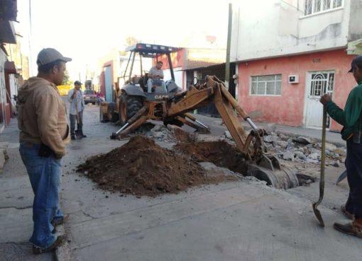 CMAPAJ rehabilita 48 metros de red de alcantarillado en Juventino Rosas