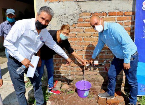 Llega agua potable en nuevo ejido de merino en Cortazar