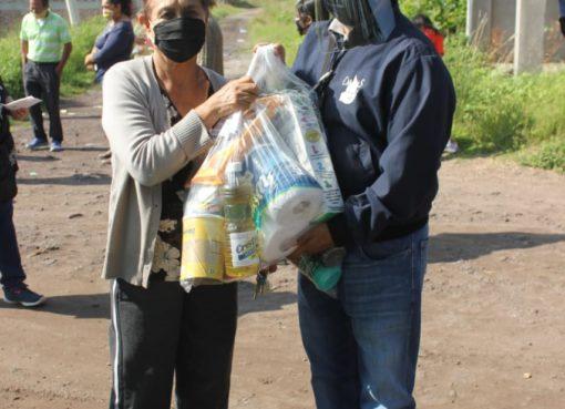 CMAPAS entrega despensas en colonia Tierra y Libertad