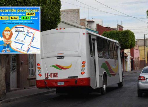 ¡Entérate! Hay desvíos de rutas en la colonia Valle de León