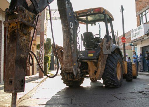 Arrancan obras de rehabilitación de red secundaria en zona centro