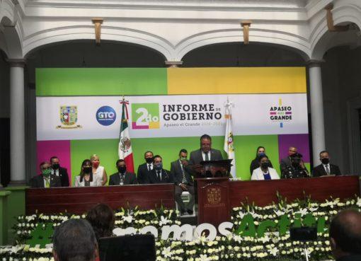 Rinde Alcalde de Apaseo el Grande segundo informe de gobierno
