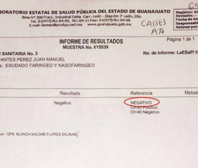 Descartan contagio de director jurídico de Apaseo el Alto