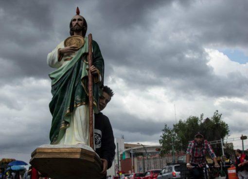 Con todo y pandemia por Covid-19, devotos a San Judas Tadeo lo veneran