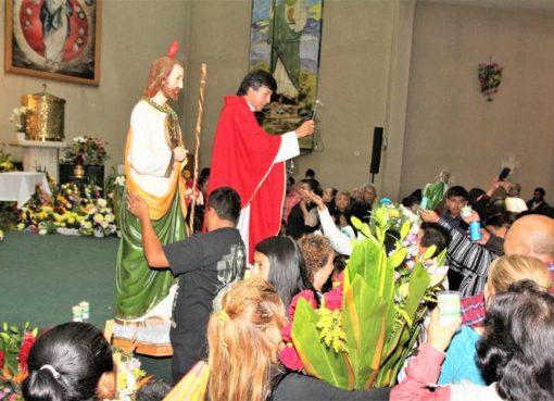 Festejan a San Judas Tadeo en Cortazar pese a Pandemia