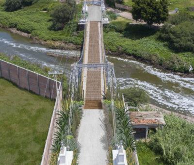 SICOM rehabilitará puente peatonal colgante del Arquitecto Ernesto Brunel en Cortazar