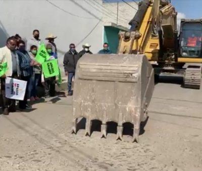Inicia pavimentación en la calle Francisco Villa de Apaseo el Grande