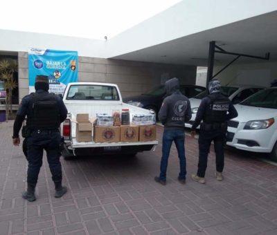 Decomisan pirotecnia y bebidas alcohólicas en comunidad de Celaya