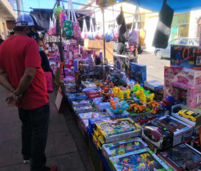 Permiten venta de juguetes en zona centro de Salvatierra