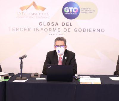 Presentan Glosa sobre los Ejes de Gobierno Economía para las personas y Seguridad y paz social