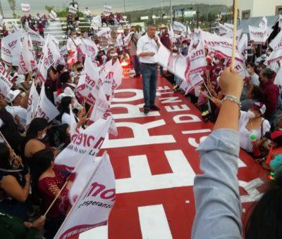 Exitoso cierre de campaña de Ricardo Ferro en la Plaza Real del Conde, donde pidió defender el voto este 06 de junio