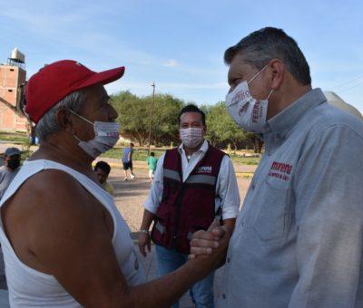 Ricardo Ferro Baeza visitó la Plaza San Miguel, Cuevitas y la colonia San Antonio.
