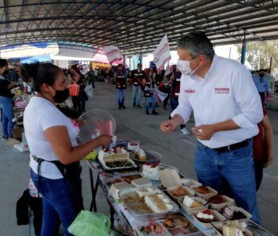Ricardo Ferro, visitó la placita de los martes y las comunidades de los Torres, Rancho nuevo de Banda y Banda
