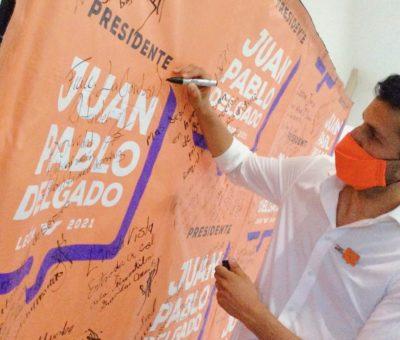 MORENA SE DESMORONA ASEGURA  JUAN PABLO DELGADO, CANDIDATO DE MOVIMIENTO CIUDADANO A LA ALCALDÍA DE LEÓN