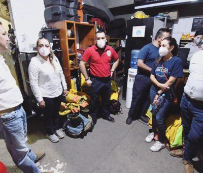 Presenta Navarro propuestas de seguridad a bomberos SIMUB
