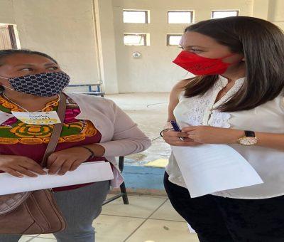 Candidata del PT participa en rodada por las calles de León y escucha a la población indígena que radica en este municipio