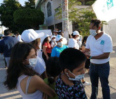 Candidato de Nueva Alianza por alcaldía de León sigue escuchando a las necesidades de la población leonesa