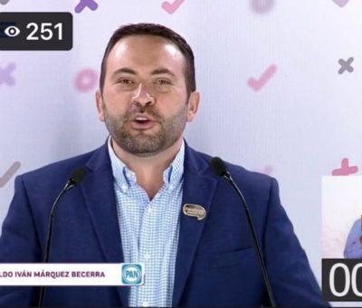 EXPONE ALDO MÁRQUEZ PROPUESTAS GANADORAS EN DEBATE