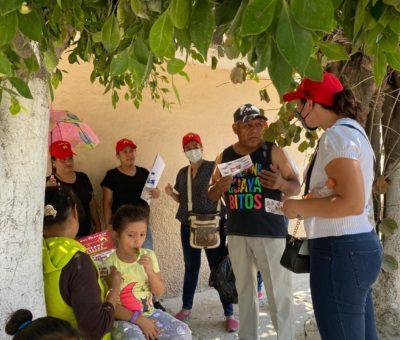 La candidata de Partido del Trabajo Nancy Fonseca Visita a la Comunidad Los Sauces