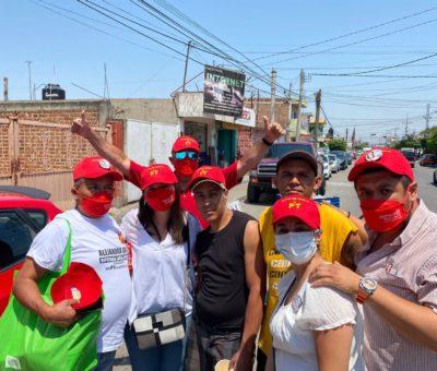Candidata del PT a la presidencia de León sigue dando a conocer sus propuestas en las diferentes colonias del municipio