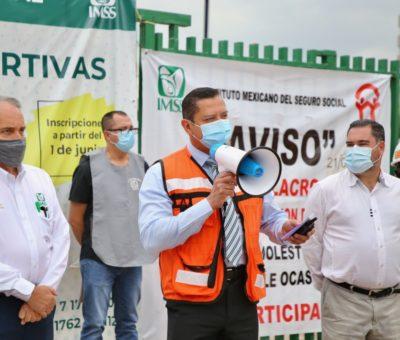 Personal del IMSS Guanajuato participa en Primer Simulacro Nacional 2021