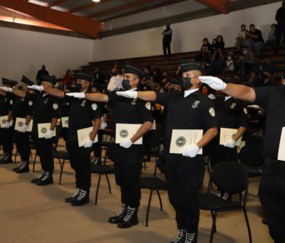 Tendrán policía y transito nuevos elementos; se gradúan 27 cadetes de Infopol