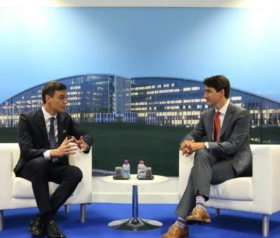 Presidente español se reúne con Trudeau para hablar sobre el problema migratorio  en Centroamérica y México