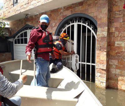 Continúan acciones de apoyo a la población en zonas afectadas por inundaciones