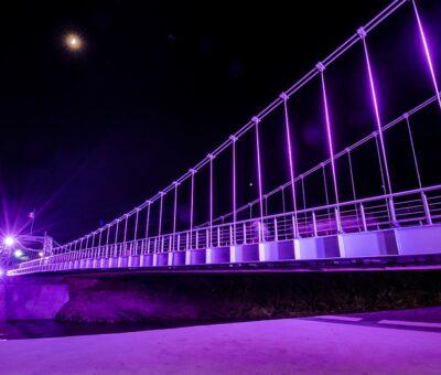 Iluminan de rosa monumentos y edificios de gobierno en Cortazar