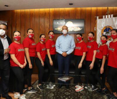 Reconocen a porristas celayenses que obtuvieron bronce en competencia internacional