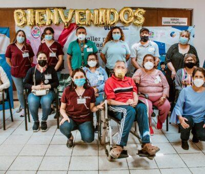 Capacitan a cuidadores de adultos mayores en Cortazar